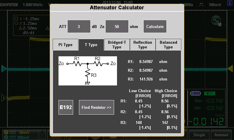 GDS-200/300 - Tools Electrical Engineers Often Applied - Attenuator Calculator