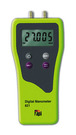 Dual Differential Input Manometer with ±120 inH2O range and 0.001 in H2O resolution. Seven units of pressure: inH2O, mbar, KPa, PSI, mmH2O, mmHg, inHg, Auto power off, Backlight display, Zero function, Trim mode to stabilize readings.