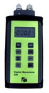 Dual Differential Input Manometer with ±5 psi range and 0.001 psi resolution. Seven units of pressure: inH2O, mbar, KPa, PSI, mH2O, mmHg, inHg, Auto power off, Record/Min/Max, Backlight display, Zero function, Trim mode to stabilize readings.