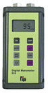 "Dual Differential Input Manometer with ± 29 psi range and 0.1 psi resolution. Seven units of pressure: inH2O, mbar, KPa, PSI, mH2O, mmHg, inHg, Auto power off, Record/Min/Max, Backlight display, Zero function, Trim mode to stabilize readings. ¼"" NPT fittings."