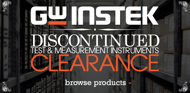 Discontinued Test Tool Clearance Sale from GW Instek