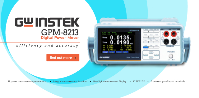 New Choice for Power Measurement ~ GW Instek GPM-8213