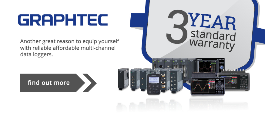 Graphtec Dataloggers to Extend Manufacturers Standard Warranty to 3 Years